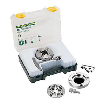 Record Power 61062 SC3 Geared Scroll Chuck Package 1x8 TPI