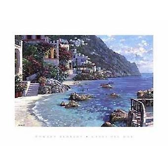 Capri-Del-Mar-Plakat-Druck von Howard Behrens (35 x 27)