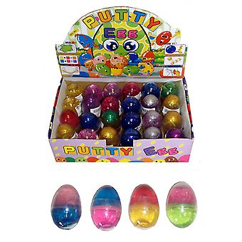Box of 24 Glitter Putty Eggs