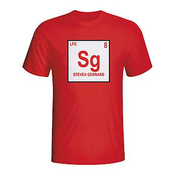 Steven Gerrard Liverpool Periodic Table T-Shirt (rot)