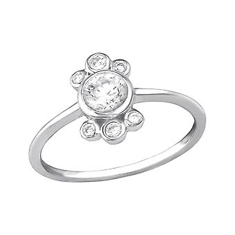 Sparkling - 925 Sterling Silver Jewelled Rings - W35384x