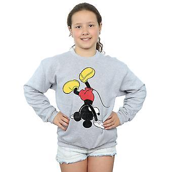 ディズニー女の子ミッキー マウス逆さまトレーナー
