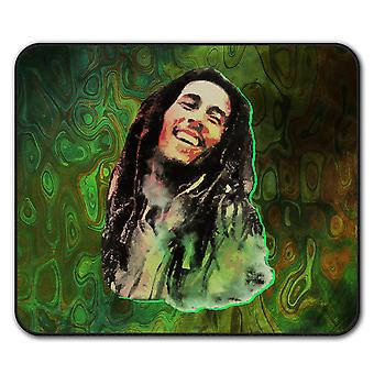 Bob lächelt Mauspad Jamaika Anti-Rutsch Pad 24 x 20 cm | Wellcoda