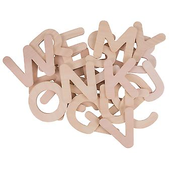 Bigjigs Toys Wooden ABC Drawing Templates (Uppercase) Letters Alphabet
