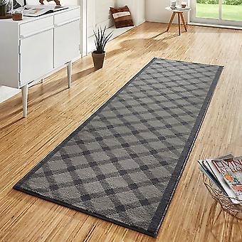 Design velour carpet runners bridge Grand grey