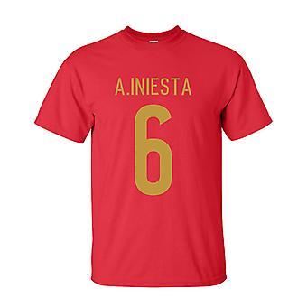 Andres Iniesta Spain Hero T-shirt (red)