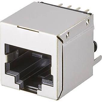 Modulaire gemonteerde socket, 1 poort, CAT 5 Socket, horizontale mount aantal pins: 8P8C A00-108-222-450 metalen EDAC A00-108-222-450 1 PC('s)