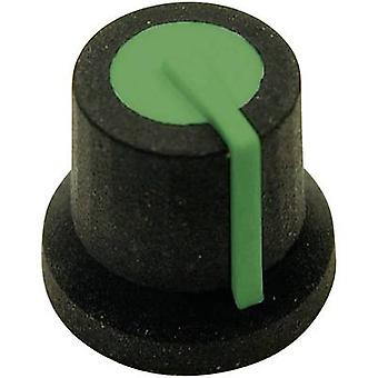 Cliff CL170828BR Control knob Black, Green (Ø x H) 16.8 mm x 14.5 mm 1 pc(s)