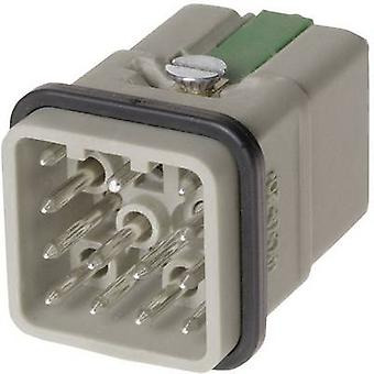 Harting 09 12 012 3001 PIN infälld han® Q 12 + PE han Quick-Lock® 1 PC (s)