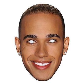 Lewis Hamilton 2D Einzelkarte Party Gesichtsmaske