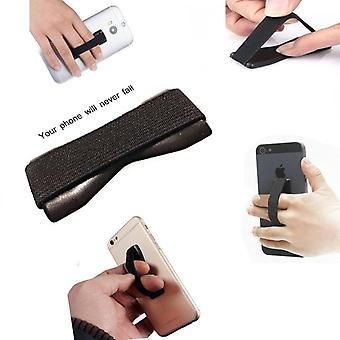 ONX3 (Black) Apple iPhone 5 / iPhone 5s / iPhone 5c Universal Anti-Slip Elastic Finger Mobile Phone Grip Holder With Strong Adhesive