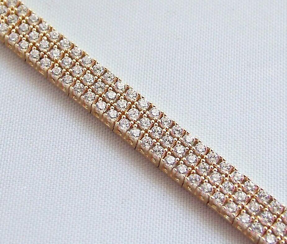 Gouden Christian armband met zirkonia