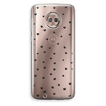 Motorola Moto G6 transparant Case (Soft) - kleine katten