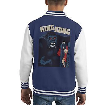 King Kong Classic Movie Poster Kid's Varsity Jacket