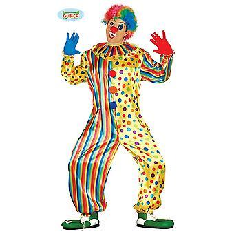 Costume de clown coloré pour l'anniversaire de fête pour le carnaval Carnaval hommes amusant Carnaval