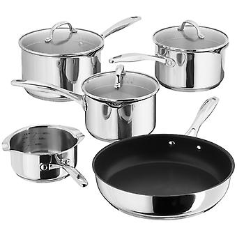 Stellar 7000, Draining 5 Piece Saucepan Set With Frying Pan