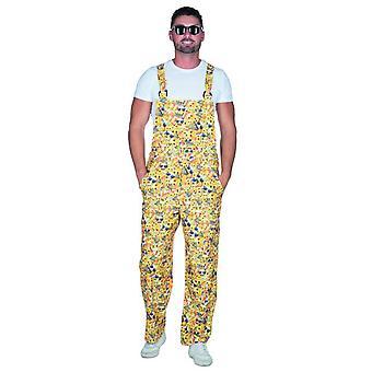 Emoji slabbetje gele mannen carnaval JGA clown circus zomer