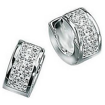 Начало кубический цирконий серьги обруча Bling - серебро