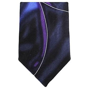 נייטסברידג ' ללבוש מערבולת מים דפוס עניבה-חיל הים/סגול
