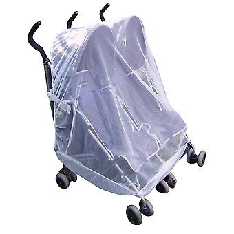 Mosquito Net For Twin Or Tandem Buggy Pushchair Free Travel Net Bag –