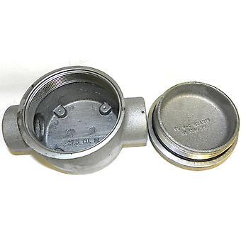 Eaton GUAC47 1-1/4-pulgada caja de empalmes caja con junta tórica y tornillo de tierra
