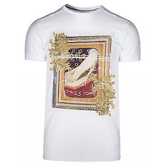 Antony Morato Sport Crew Neck White Graphic Print Logo T-Shirt