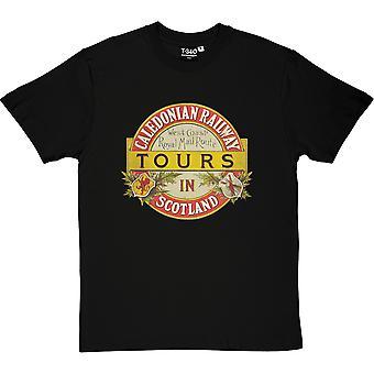 Caledonian Railway Black Men's T-Shirt
