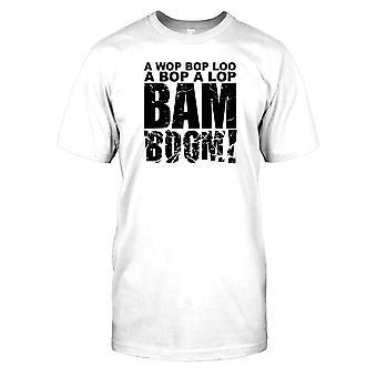 Wop BOP Loo-hauska musiikki innoittamana miesten T-paita