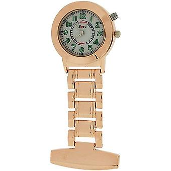 Boxx Rose Quartz Analogue Lumibrite Nurses Fob Watch With Back Light BOXX376