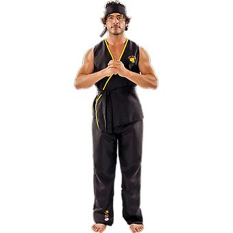 Orion Costumes Mens Viper Kai Karate 80 Film Fancy Dress Costume