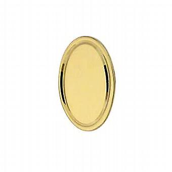 9ct Gold 12x8mm engine turned line border oval Tie Tack