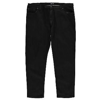 D555 Mens XL Stretch Fit Jeans Straight broek broek bodems Zip Denim