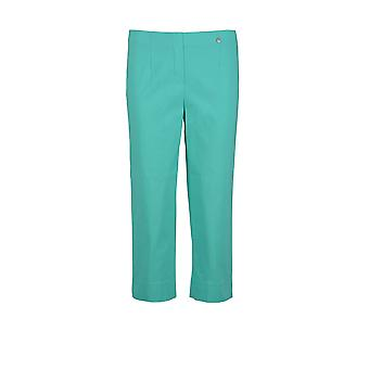 Robell Marie Cropped Trouser in Aqua