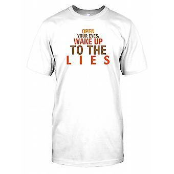 Open Your oczy obudzić do kłamstwa - spisek męskie T Shirt