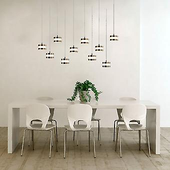 Modern Nickel Ceiling Light 10 Pendant Lamp Dining Room Rectangular Canopy New
