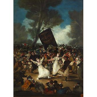 Funérailles d'une sardine, Francisco Goya, 60x43cm