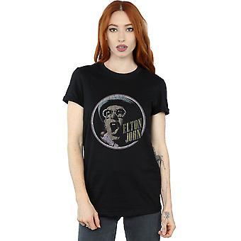 Elton John Women's Vintage Circle Boyfriend Fit T-Shirt