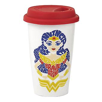 DC Super Hero Girls Wonder Woman Travel Mug