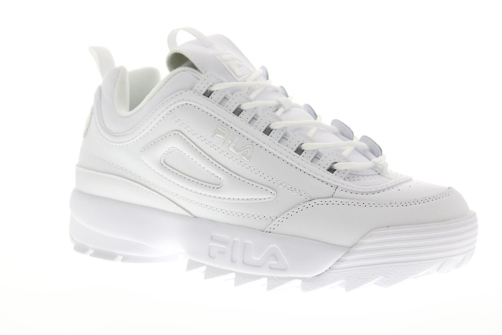 Fila disruptor II Premium 1FM00139-100 Mens vit casual låg Top snea...