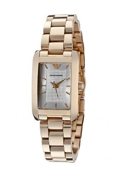 Emporio Armani Ar0361 Ladies Rose Gold Classic Diamond Watch