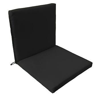 Almohadilla de asiento de silla Gardenista Garden Premium ? Cuerdas de lazos seguros y tirante elástico en la parte posterior de la espalda Resistente al agua ? Adecuado para interior y exterior (1 piezas, negro)
