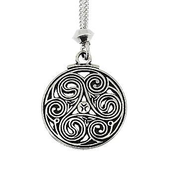 Spirali a mano nodo celtico & Triskele triplo pendente peltro #3