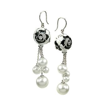 Belle Etoile Botanique Pearl Black Earrings 3030910903