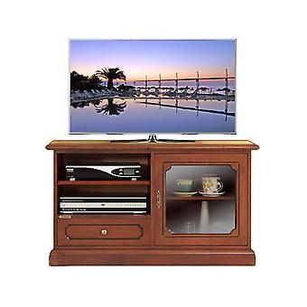 Midi TV holder with window and drawer