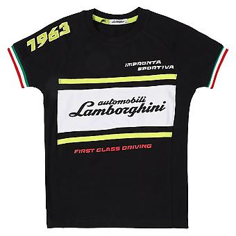 Lamborghini Kids Automobili Lamborghini 1963 Racing T-Shirt,Black