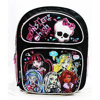 Medium rygsæk-Monster High-skræmmende skoletaske piger ny mh20760