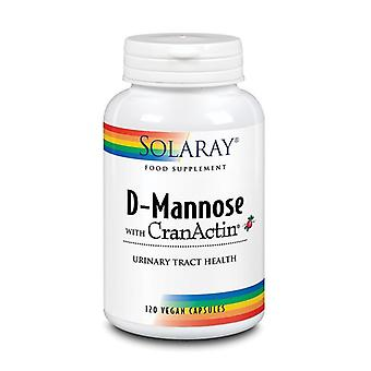 Solaray D-Mannose with CranAin 1000mg Capsules 120 (46764)