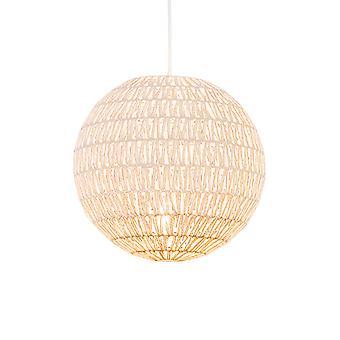 QAZQA Retro lâmpada pendurada branca 50 cm - Lina Ball 40