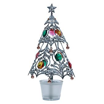 Crystocraft Christmas Tree In Plant Pot made with Swarovski Crystals