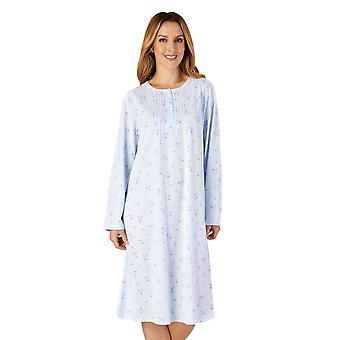 Slenderella ND4127 Women's Jersey Floral Lace Nightdress